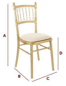 Band International - Wedding and Banqueting Chair - The Chantilly Dimensions