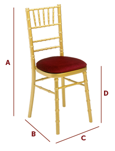 Band International - Wedding and Banqueting Chair - The Derby Dimensions