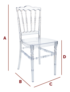 Band International - Wedding and Banqueting Chair - The Napoleon Dimensions