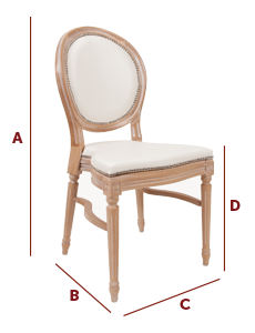 Band International - Wedding and Banqueting Chair - The Triomphe Dimensions